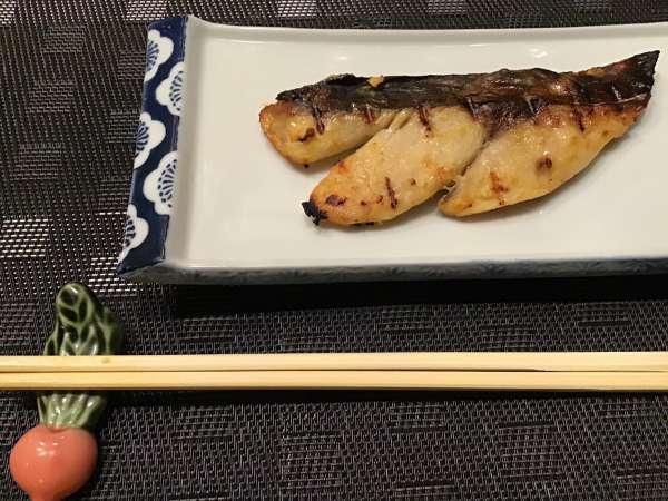 京都のいけまさ亭で出されたお魚の西京焼き