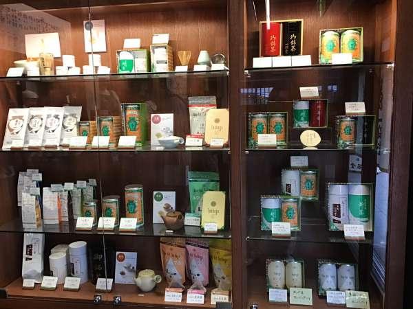 京都の一保堂のお茶売り場