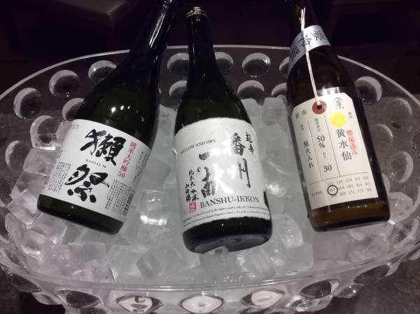 羽田空港ファーストクラスラウンジの日本酒
