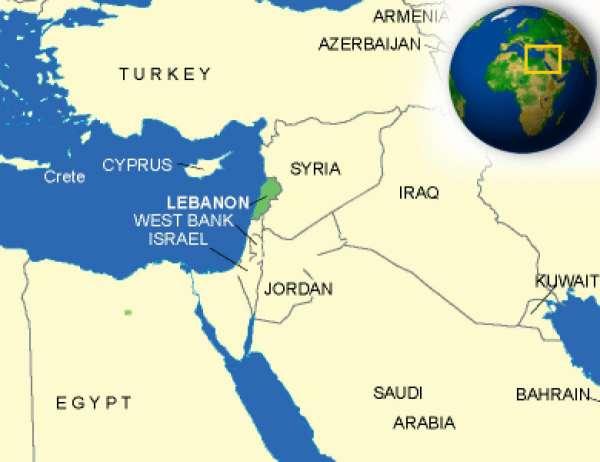 映画「存在のない子供たち」の舞台レバノンの地図