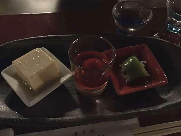 京都の富美屋のコース料理