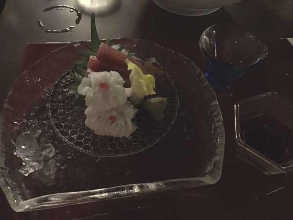 京都の富美屋のコース料理のハモ
