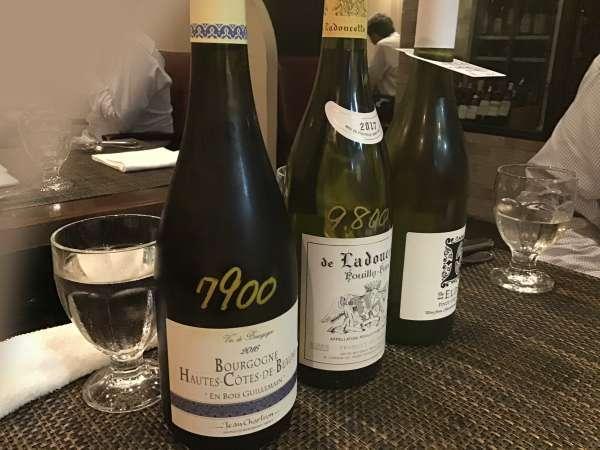 湯島のブテイユの白ワイン