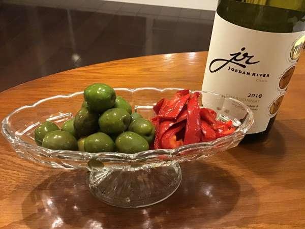 オリーブとワイン