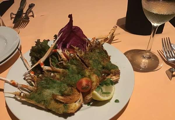 ピッコログランデの海老料理