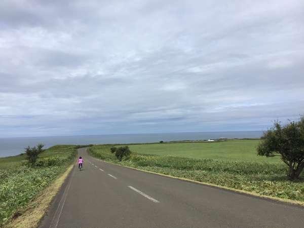能取岬へサイクリング