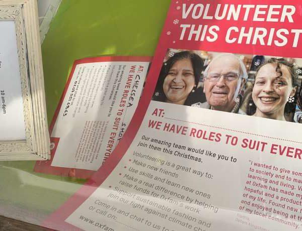 oxfamボランティア募集の広告