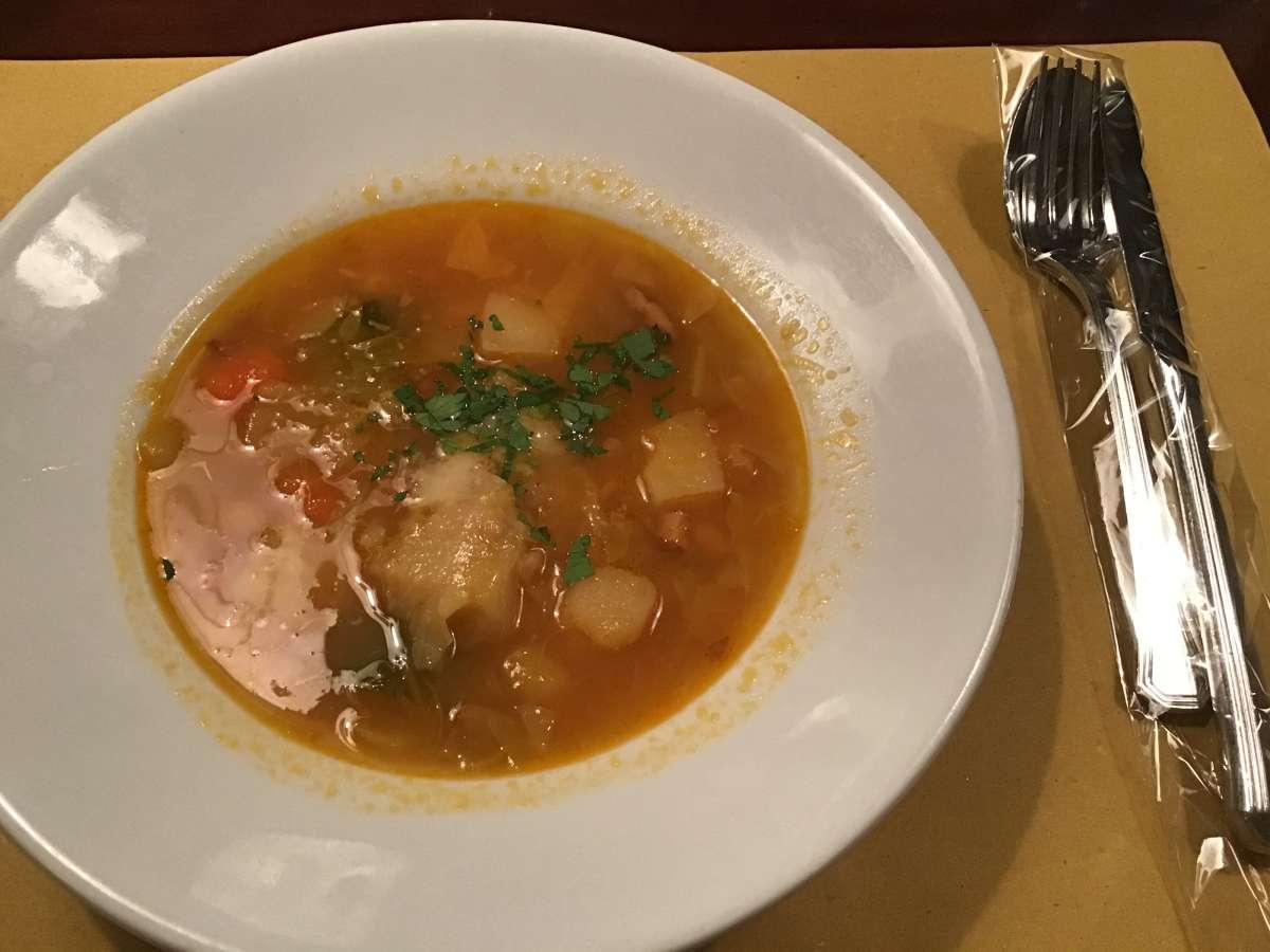 ランチメニューのスープ