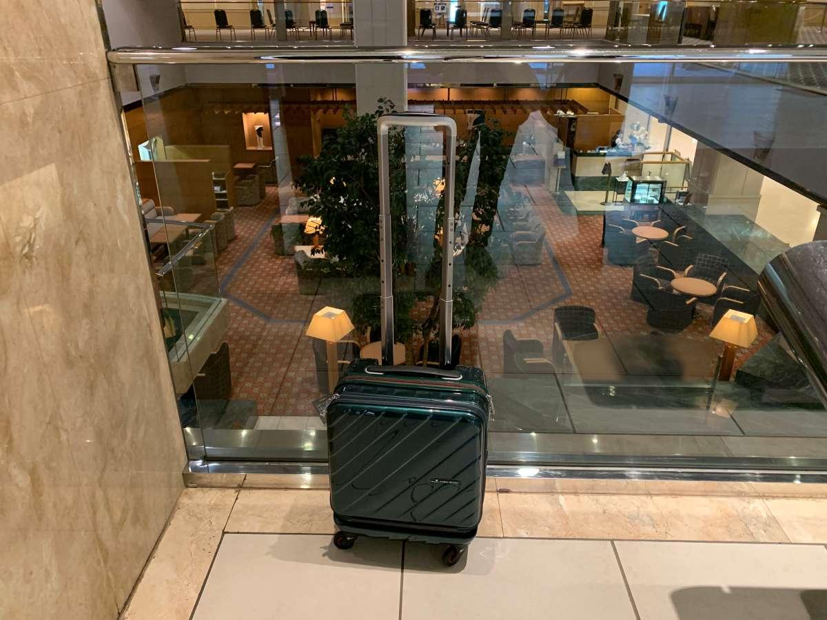 実際に国内旅行で使っている小型のスーツケース