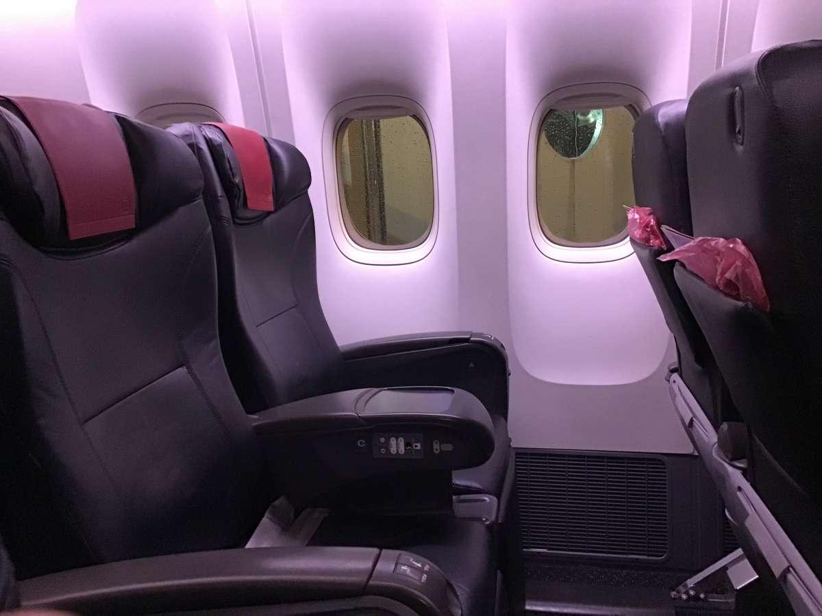 飛行機内の座席